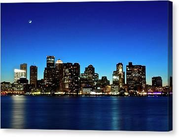 Boston Skyline Canvas Print by By Eric Lorentzen-Newberg