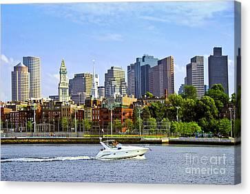 Boston Skyline Canvas Print by Elena Elisseeva