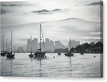 Boston Skyline  Canvas Print by Matthew Martelli