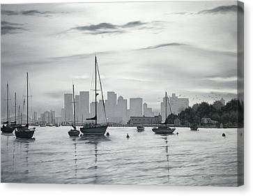 Boston Skyline  Canvas Print by Matthew Martelli