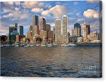 Boston Skyline  Canvas Print by Tamyra Ayles