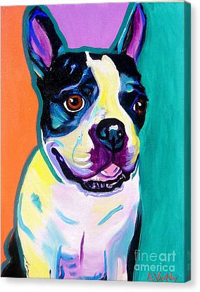 Boston Terrier - Jack Boston Canvas Print by Alicia VanNoy Call