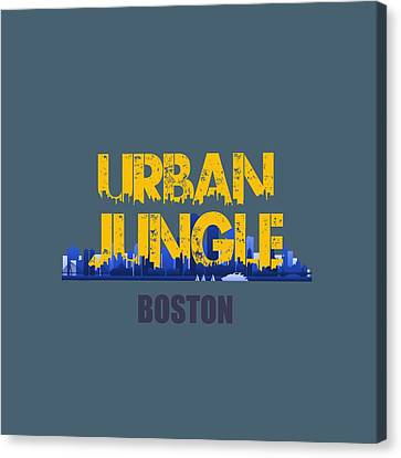 Boston Urban Jungle Shirt Canvas Print by Joe Hamilton