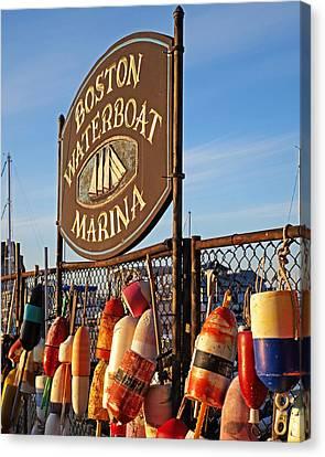 Boston Waterboat Marina Boston Ma Canvas Print by Toby McGuire
