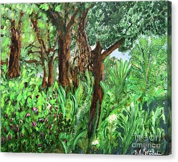 Botanical Garden Canvas Print by Debbie Davidsohn