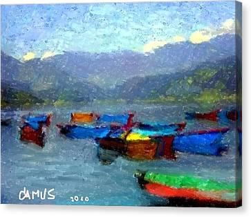 Botes Canvas Print by Carlos Camus