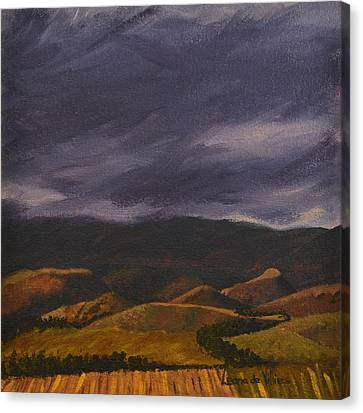 Botlierskop In The Distance Canvas Print by Leana De Villiers