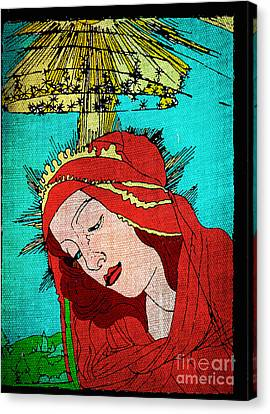 Botticelli Madonna Fabrique Canvas Print by Genevieve Esson