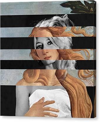 Botticelli's Venus And Brigitte Bardot Canvas Print by Luigi Tarini
