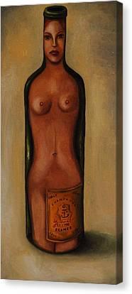 Bottle Woman 3 Canvas Print by Leah Saulnier The Painting Maniac