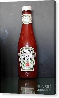 Bottled Ketchup - 5d18039 Canvas Print by Wingsdomain Art and Photography