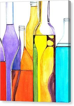 Bottled Rainbow 1 Canvas Print by Jun Jamosmos
