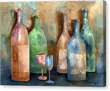 Bottles Canvas Print by Arline Wagner