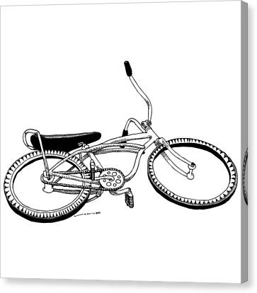 Bottom Up Bike Canvas Print by Karl Addison