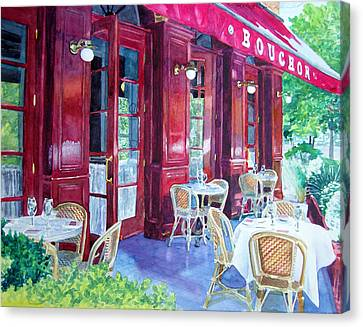Bouchon Restaurant Outside Dining Canvas Print by Gail Chandler