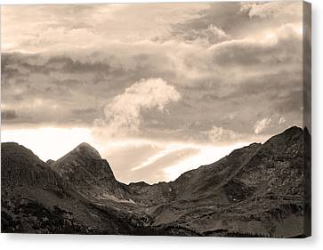 Boulder County Indian Peaks Sepia Image Canvas Print by James BO  Insogna