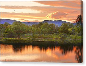 Boulder County Lake Sunset Landscape 06.26.2010 Canvas Print by James BO  Insogna