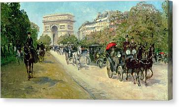 Boulevard In Paris Canvas Print by Georges Stein