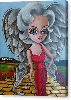 Boulevard Of Broken Wings Canvas Print by Bonnie Diaz