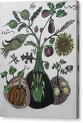 Bountiful Tree Canvas Print by Grace Keown