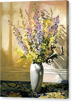 Bouquet Impressions Canvas Print by David Lloyd Glover