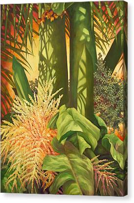 Bouquet Of Palm Canvas Print by Monica Linville