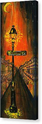 Bourbon Street Lamp Post Canvas Print by Catherine Wilson