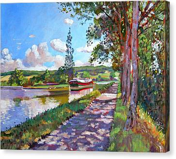 Bourgogne Canal Canvas Print by David Lloyd Glover