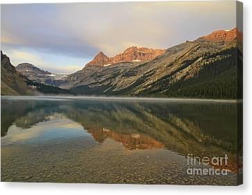 Bow Lake Sunset Canvas Print by Teresa Zieba