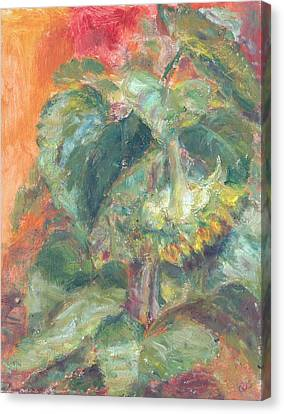 Bowing, Summer's Last Hurrah, Original Contemporary Impressionist Oil Painting Canvas Print by Quin Sweetman