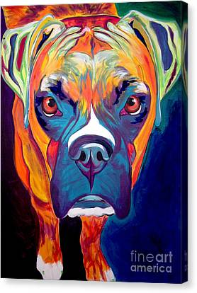 Boxer - Harley Canvas Print by Alicia VanNoy Call