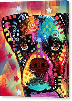 Boxer Cubism Canvas Print by Dean Russo