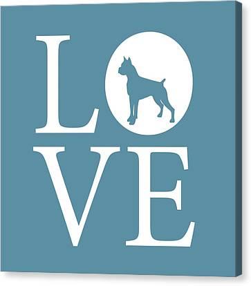 Boxer Love Canvas Print by Nancy Ingersoll