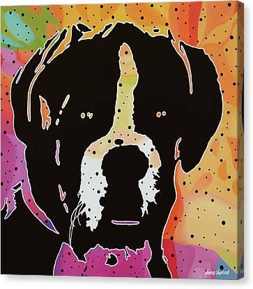 Boxer Canvas Print by Nancy Aurand-Humpf