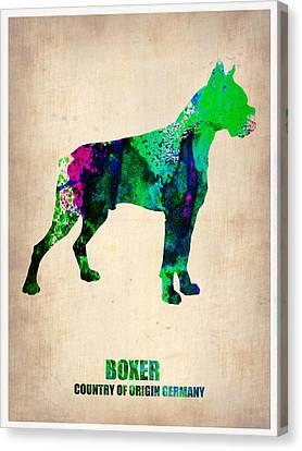 Boxer Poster Canvas Print by Naxart Studio