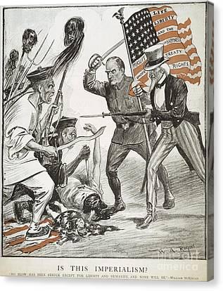 Boxer Rebellion Cartoon Canvas Print by Granger