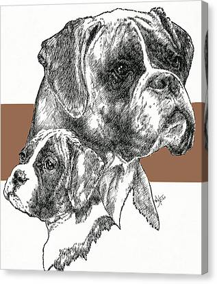 Boxer -uncropped- Father And Son Canvas Print by Barbara Keith