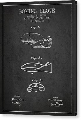 Boxing Glove Patent From 1885 - Charcoal Canvas Print by Aged Pixel