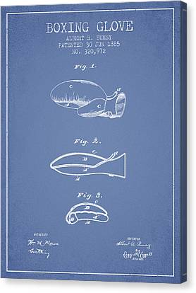Boxing Glove Patent From 1885 - Light Blue Canvas Print by Aged Pixel