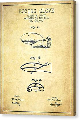Boxing Glove Patent From 1885 - Vintage Canvas Print by Aged Pixel