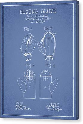 Boxing Glove Patent From 1889 - Light Blue Canvas Print by Aged Pixel