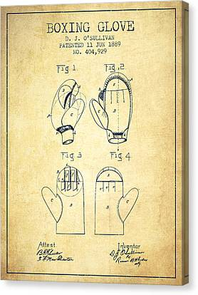Boxing Glove Patent From 1889 - Vintage Canvas Print by Aged Pixel