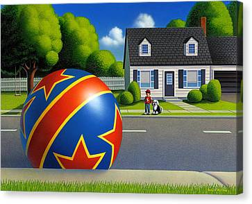 Boy And The Ball  Canvas Print by Robin Moline