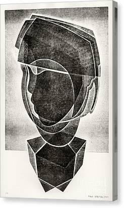 Boy's Head Canvas Print by Alex Kveton