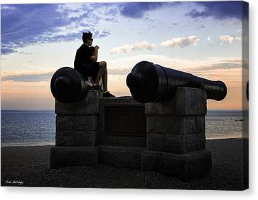 Boys On The Canons Canvas Print by Fran Gallogly