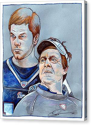 Brady And Belichick Canvas Print by Dave Olsen