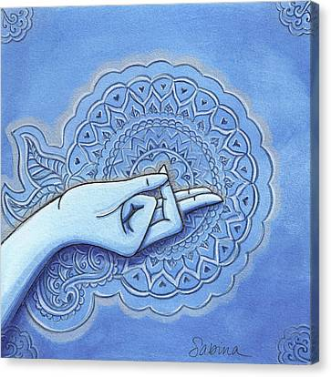 Brahmara Mudra Canvas Print by Sabina Espinet