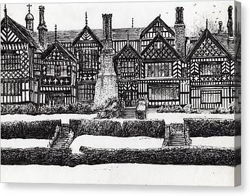 Bramall Hall Canvas Print by Vincent Alexander Booth