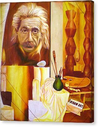 Brancusi   E Mc2 II Canvas Print by Romeo Niram
