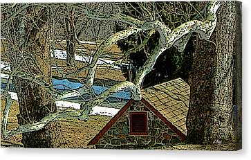 Brandywine Springhouse Canvas Print by Gordon Beck